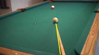 """Pool and billiards """"vision center"""" (dominant eye) sighting and alignment drill, from VEPP I"""