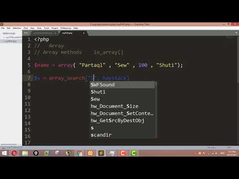 Searching an array for a given value in PHP - Array Search ,