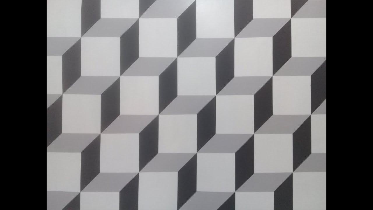Pintura decorativa efeito 3d muito f cil de fazer youtube - Pintura decorativa para paredes ...