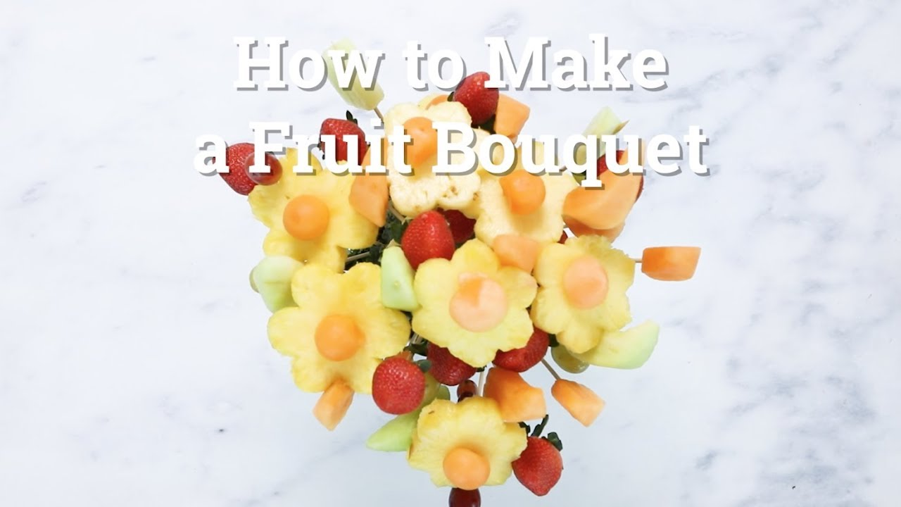 Whats for dinner how to make a fruit bouquet arrangement youtube whats for dinner how to make a fruit bouquet arrangement izmirmasajfo