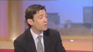 GMTV Andrew Castle gives health secretary Andy Burnham a roasting on Tamiflu
