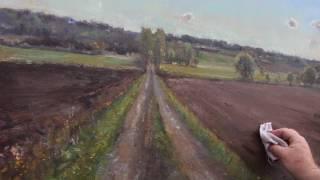 På jobb med maleren Jonny Andvik 25 mai