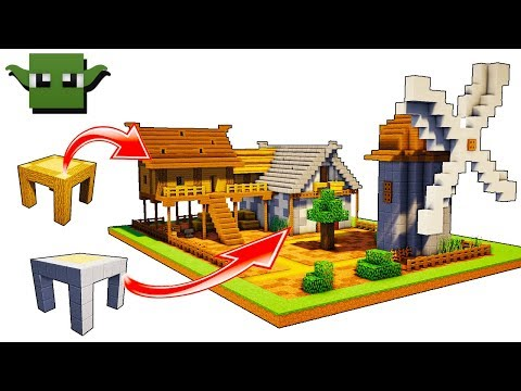 Minecraft Medieval Windmill Tutorial (EASY 5X5 BUILDING SYSTEM)