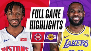 Game Recap: Lakers 135, Pistons 129