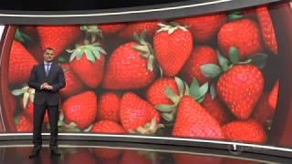 Police unable to determine origin of needles in strawberries