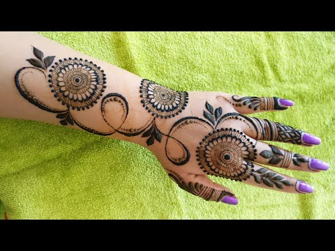 Easy and Beautiful Mehndi Design for Hand    EID Special Mehndi Design 2018 #4