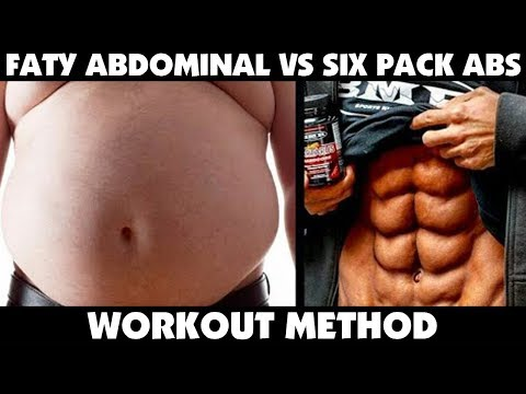 Faty Abdominal Area Vs Six Pack Abs Workout Method