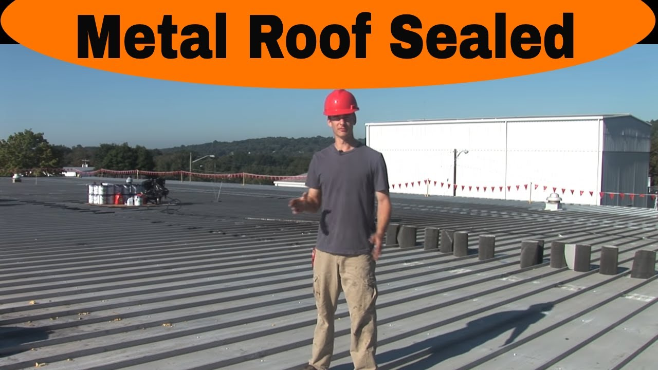 Commercial Roof Repair : Metal roof repair saving on this commercial