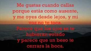 POEMA 15 Pablo Neruda  (cantado por Mercedes Sosa) - TITULOS