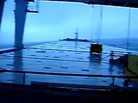 Rolling of my ship in Bay of Biscay 2006