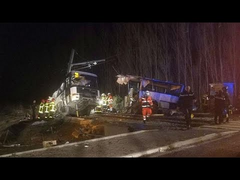 Live updates: Four teenagers dead after train collides with school bus in France