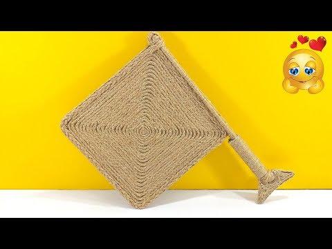 DIY Jute HAND FAN 🌞 Summer Special Traditional Handmade Fan with Jute | Jute Fan Making Tutorial