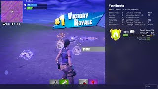 Fortnite Player's 146th Zero Kill Battle Royale Victory Without Using Weapons or Materials - J189