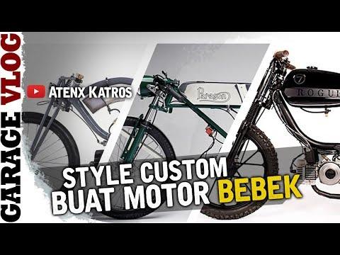 Custom Motor Bebek Bergaya Moped  [Garage Vlog]