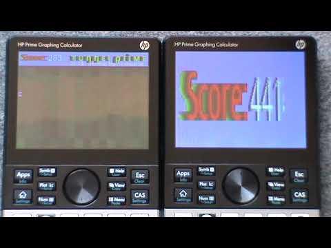 HP Prime G1 vs G2 performances test : tunnel game