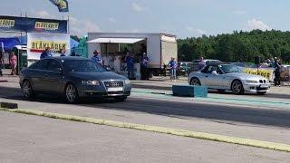 BMW Z3 2.2 vs Audi A6 C6 3.0TDI Quattro 1/4mile drag race