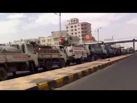 Gas Station Line in #Sanaa - #Yemen