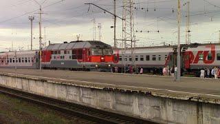 Тепловоз ТЭП70-0063 с поездом №433Я Кострома-Санкт Петербург