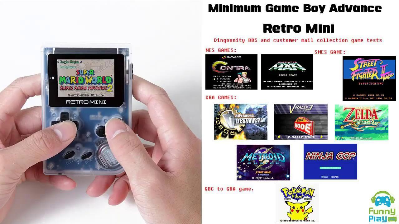 RETRO MINI GBA GBC NES SNES Games Test | FUNNYPLAYING