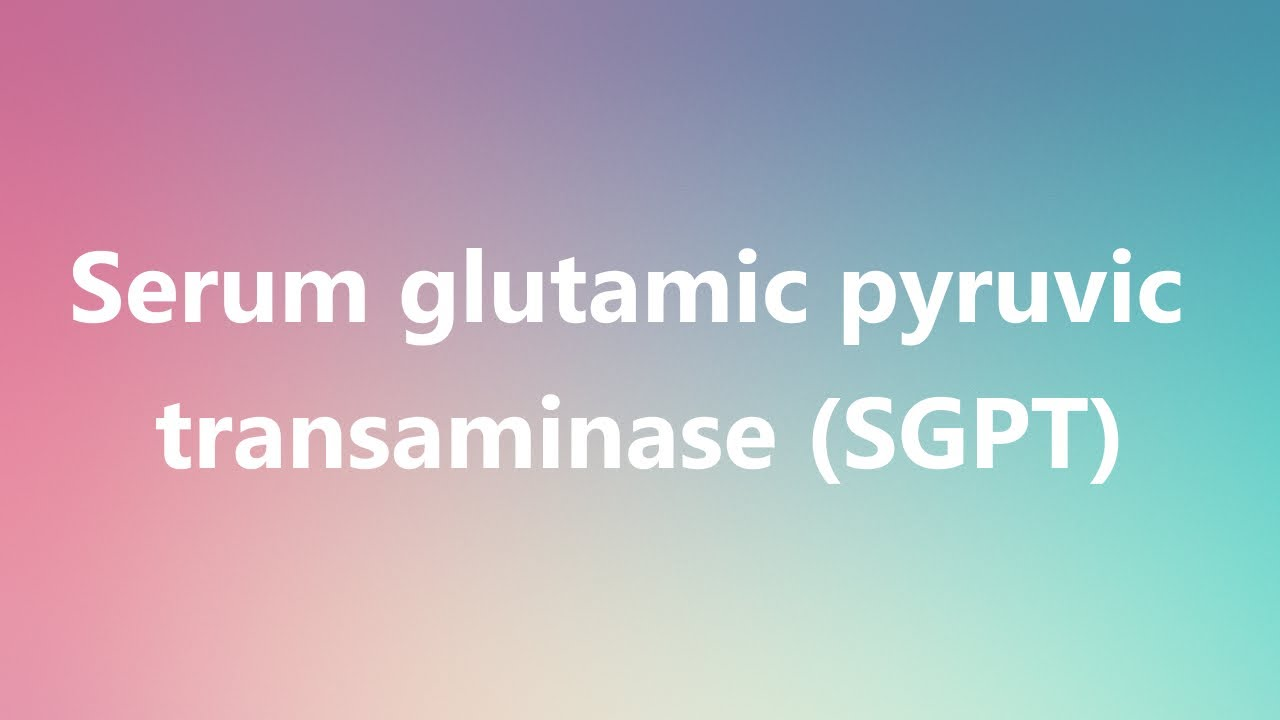 Serum glutamic pyruvic transaminase (SGPT) - Medical Definition and  Pronunciation
