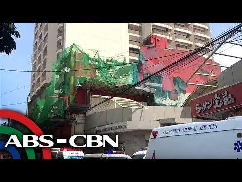 Lumang motel na ginigiba sa Maynila, gumuho | News Patrol