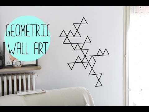 Download video: DIY:Geometric wall art with washi tape ...