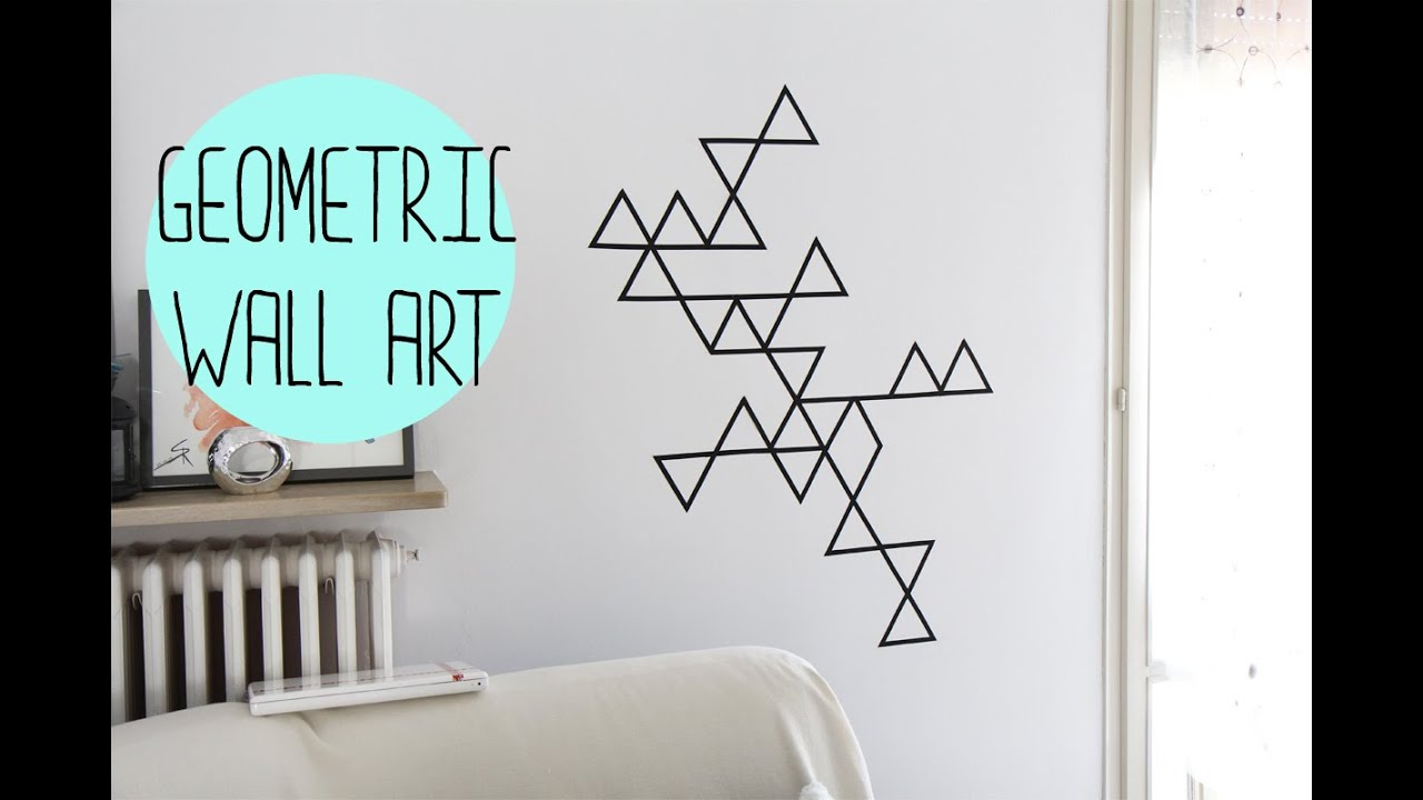 Geometric Wall Art diy:geometric wall art with washi tape - decorazione da muro con