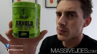 Arnold Series Iron Cre3 Creatine Supplement Review - MassiveJoes.com RAW REVIEW MusclePharm Cre 3