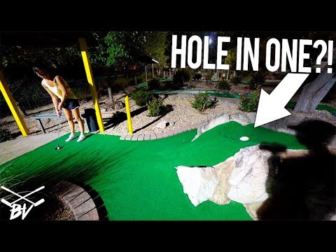 CAN MAKING THIS GUARANTEE A MINI GOLF HOLE IN ONE?!