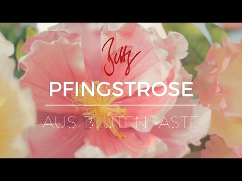 Pfingstrose Aus Blütenpaste | Betty´s Sugar Dreams