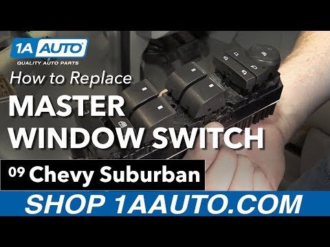 How to Replace Install Master Window Switch 08-13 Chevy Suburban