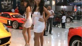 FERRARI e Modelos LINDAS no Salão INTERNACIONAL São Paulo BRAZIL