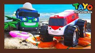 Tayo Kendaraan berat Mainan menunjukkan l #22 Kereta menuju ke pantai! l Tayo Bus Kecil