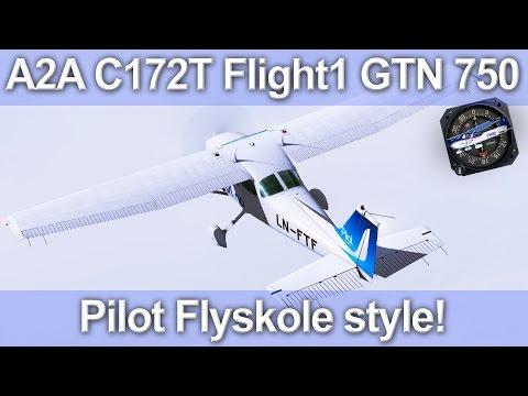 A2A C172 F1 GTN 750 Avionics Suite