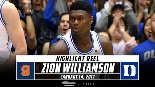 Zion Williamson Highlights: Syracuse-Duke 2019 | Stadium