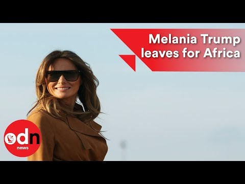 Melania Trump boards plane for her first solo trip to Africa
