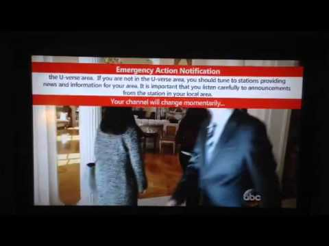 "AT&T U-verse ""White House"" emergency alert"