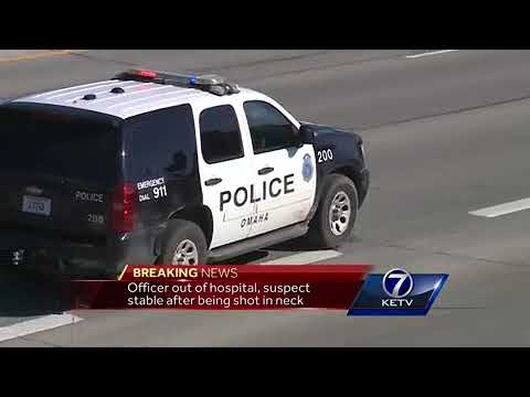 Omaha police officer hurt in chase on Highway 75