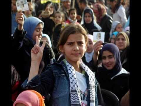 "Palestinian women with the song ""Ashiqa""."