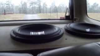 9 foot long t line passive subwoofer box 1000w polk audio 10 s