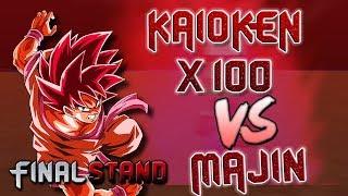 THIS KK x100 THO | KAIOKEN x100 VS True Anger Majin | Dragon Ball Z FINAL STAND