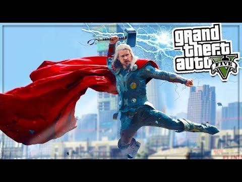 GTA 5 Mod: THOR Super Hero MOD!💥😱  (GTA 5 Mod Gameplay)