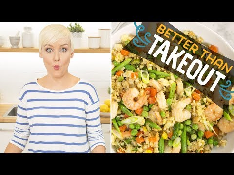 Shrimp Fried Cauliflower Rice (with The Domestic Geek) | Food Network