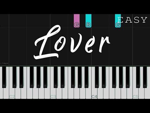 Lover - Taylor Swift   EASY Piano Tutorial thumbnail