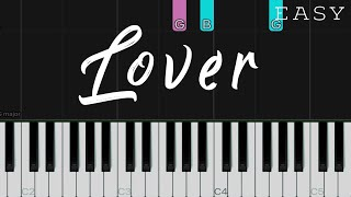 Lover - Taylor Swift   EASY Piano Tutorial