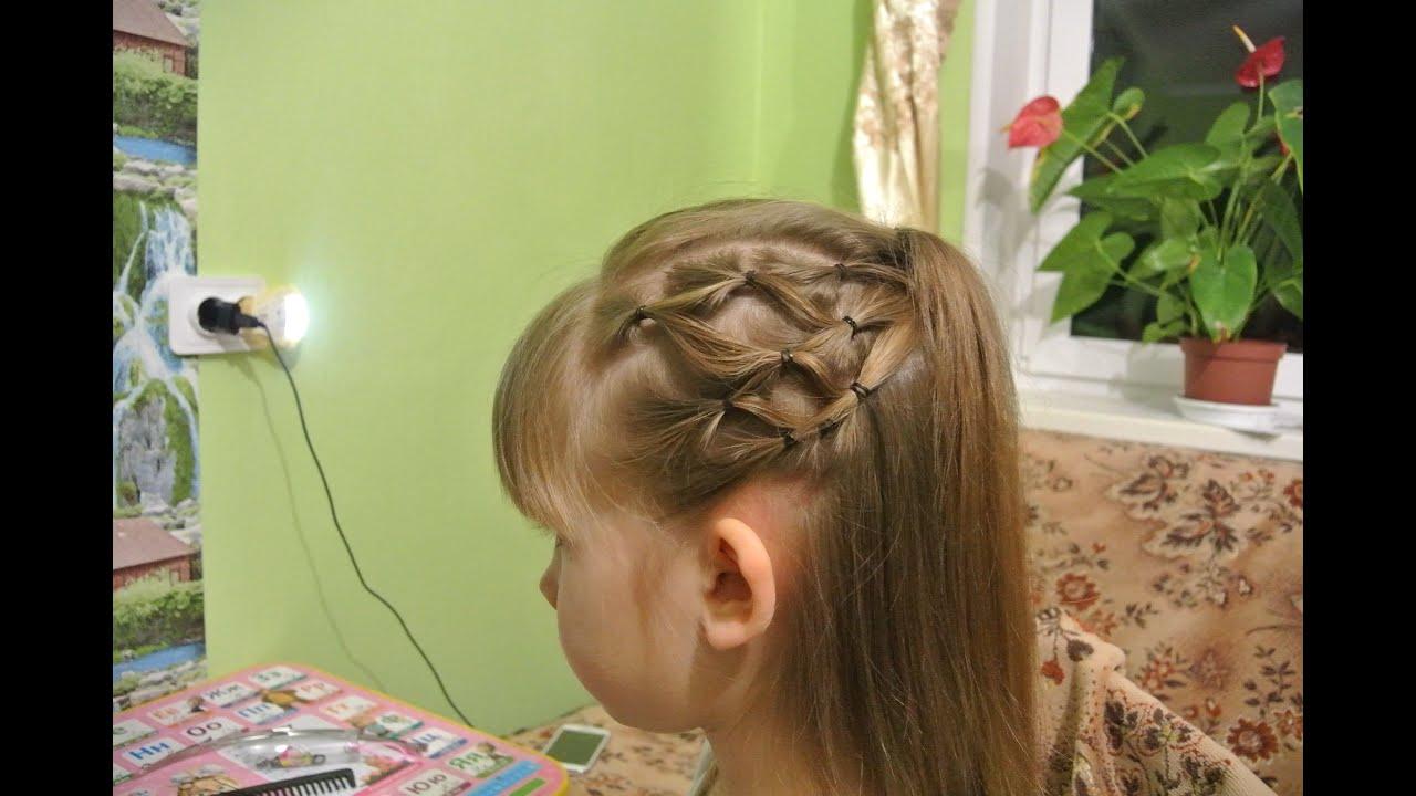 Причёска из силиконовых резинок