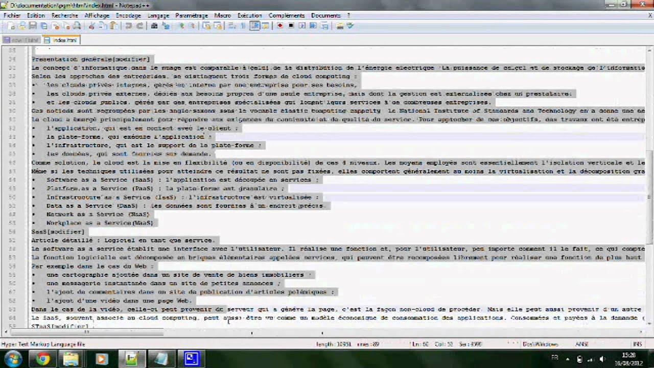 Tuto ins rer un lien dans une page youtube for Code html lien nouvelle fenetre