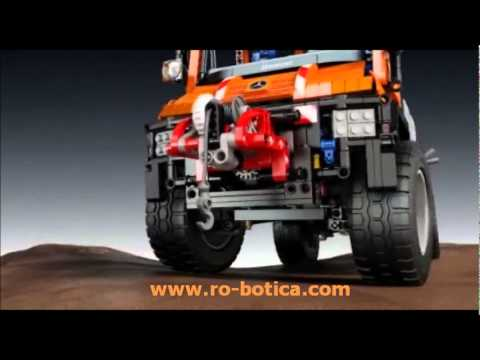 lego technic cami n 4x4 multiprop sito unimog u400 mercedes benz youtube. Black Bedroom Furniture Sets. Home Design Ideas
