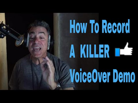 Recording A Commercial Voice Over Demo with Joe Cipriano - How To Do Voice Over