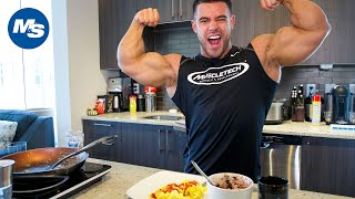 What Bodybuilders Eat For Breakfast | Santi Aragon